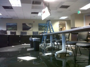 Hoskin Commercial Insurance Flooded Office